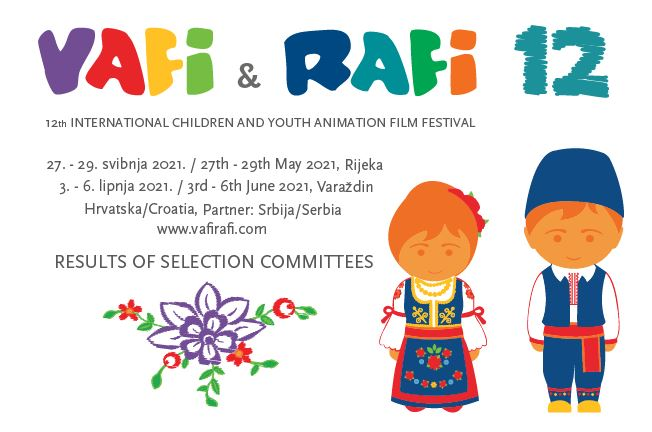 12. VAFI & RAFI festival (Hrvatska) – Rezultati selekcijskih komisija